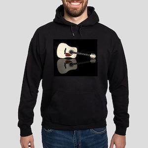 Pale Acoustic Guitar Reflection Hoodie (dark)