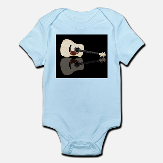 Pale Acoustic Guitar Reflection Body Suit