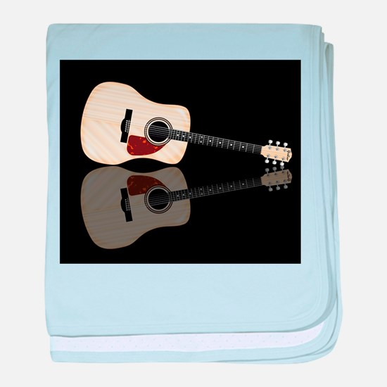 Pale Acoustic Guitar Reflection baby blanket