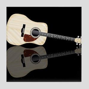 Pale Acoustic Guitar Reflection Tile Coaster