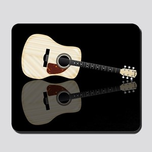 Pale Acoustic Guitar Reflection Mousepad