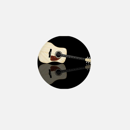 Pale Acoustic Guitar Reflection Mini Button