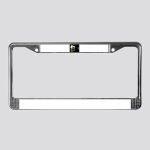 Pale Acoustic Guitar Reflectio License Plate Frame