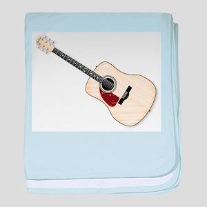 Left Handed Acoustic Guitar baby blanket