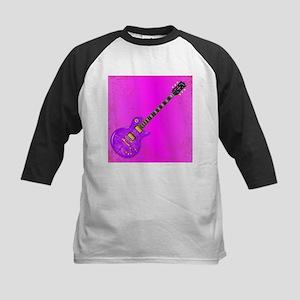 Pink Guitar Grunge Baseball Jersey