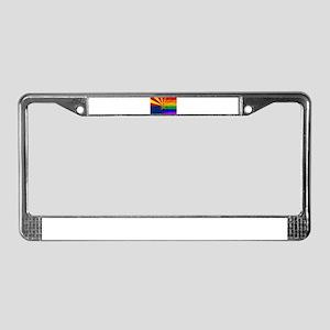 Gay Rainbow Wall Arizona Flag License Plate Frame