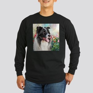 Border Collie Painting Long Sleeve T-Shirt