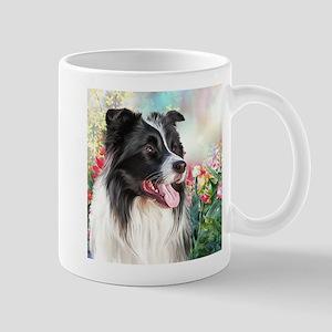 Border Collie Painting Mugs