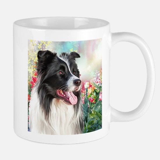 Border Collie Painting Mugs