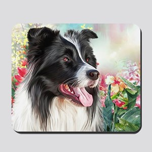 Border Collie Painting Mousepad