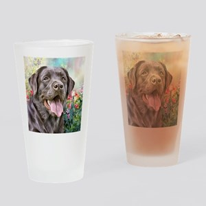 Labrador Painting Drinking Glass