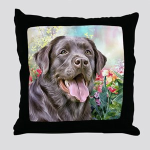 Labrador Painting Throw Pillow