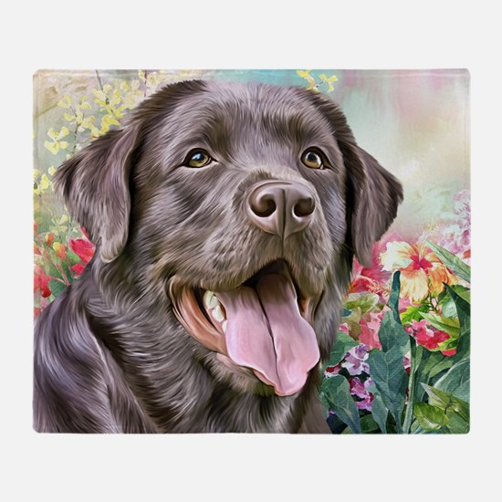Labrador Painting Throw Blanket