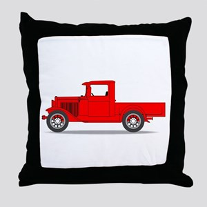 Early Pickup Truck Throw Pillow
