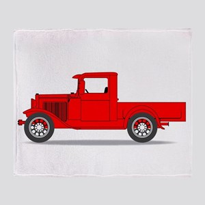 Early Pickup Truck Throw Blanket