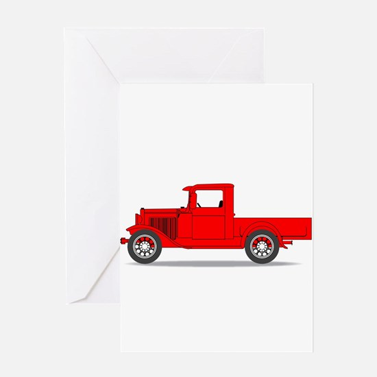 Early Pickup Truck Greeting Cards