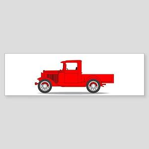Early Pickup Truck Bumper Sticker