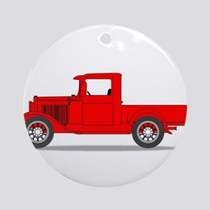 Early Pickup Truck Round Ornament