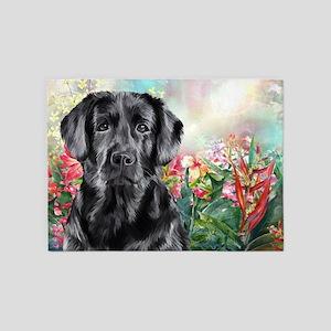 Labrador Painting 5'x7'Area Rug
