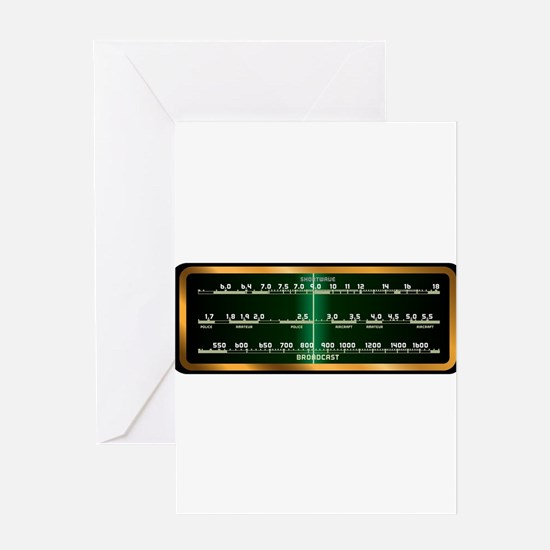 Valve Radio Screen Greeting Cards