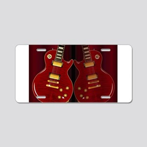 Classic Guitar Reflections Aluminum License Plate