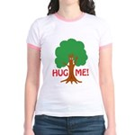 Earth Day : Tree Hugger, Hug me! Jr. Ringer T-Shir