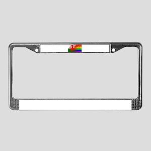 Gay Rainbow Wall Wales Flag License Plate Frame