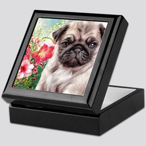 Pug Painting Keepsake Box