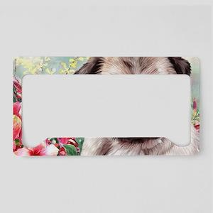 Pug Painting License Plate Holder