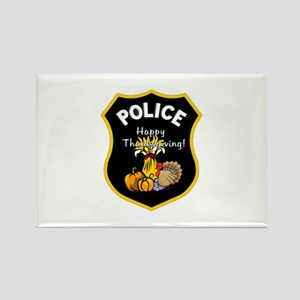 Police Thanksgiving Rectangle Magnet