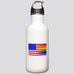 Gay Rainbow Wall Ameri Stainless Water Bottle 1.0L
