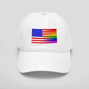 Gay Rainbow Wall American Flag Cap