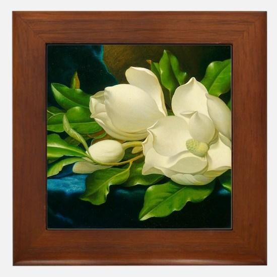Unique Magnolia Framed Tile