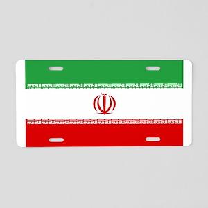 Iranian National Flag Aluminum License Plate