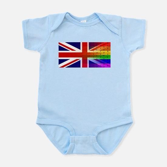 Gay Rainbow Wall Union Jack Body Suit
