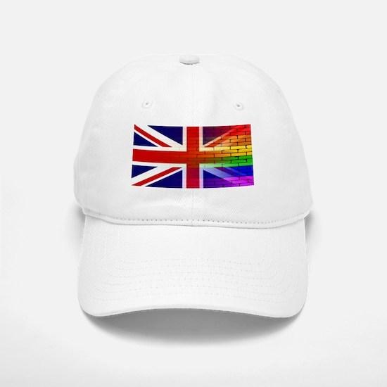 Gay Rainbow Wall Union Jack Baseball Baseball Cap