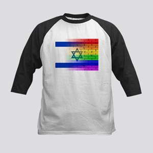 Gay Rainbow Wall Israel Flag Baseball Jersey