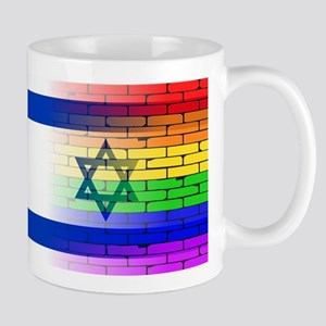 Gay Rainbow Wall Israel Flag Mugs