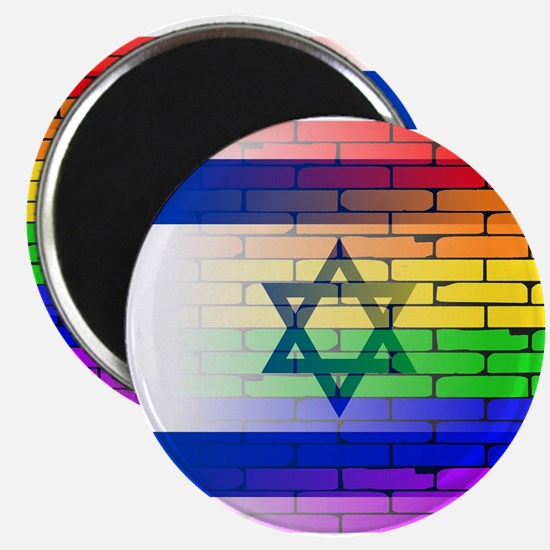 Gay Rainbow Wall Israel Flag Magnets
