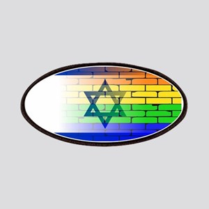 Gay Rainbow Wall Israel Flag Patch