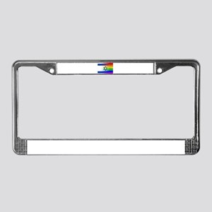 Gay Rainbow Wall Israel Flag License Plate Frame