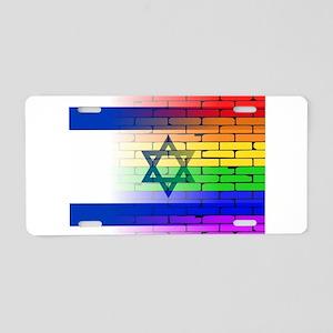 Gay Rainbow Wall Israel Fla Aluminum License Plate