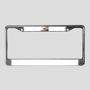 Gay Rainbow Wall California Fl License Plate Frame