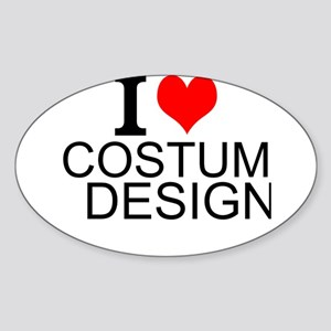 I Love Costume Design Sticker
