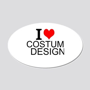 I Love Costume Design Wall Decal