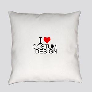 I Love Costume Design Everyday Pillow