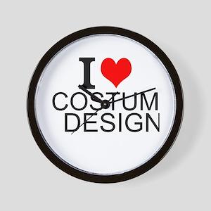 I Love Costume Design Wall Clock
