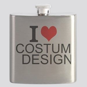 I Love Costume Design Flask