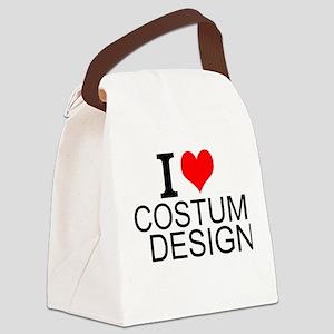I Love Costume Design Canvas Lunch Bag