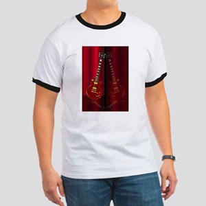 Red Guitar Reflections T-Shirt